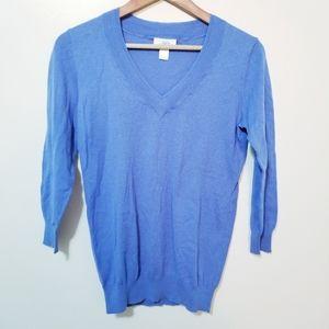 Ann Taylor LOFT Periwinkle Vneck Sweater Size XS